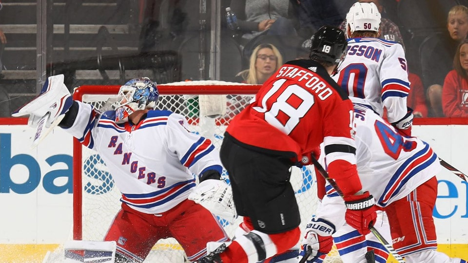 New York Rangers at New Jersey Devils.